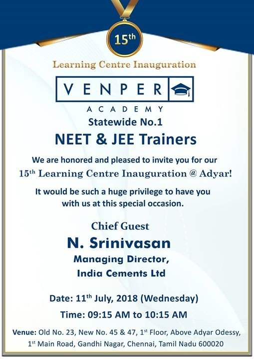 15th Learning Centre Inauguration at Adyar