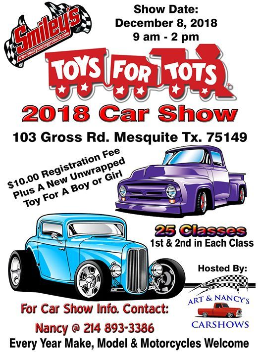 Smileys Racing Toys For Tots Car Show Mesquite - Mesquite car show 2018