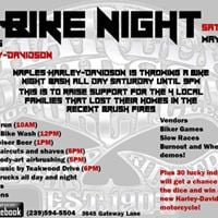Bike Night - Benefiting Victims of the Recent Brush Fires