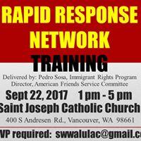 Rapid Response Network Training on immigration