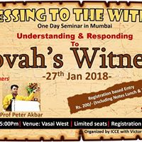 Witnessing to the Witnesses - One Day Seminar