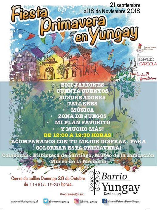 Familia Primaveral En Fiesta Primavera En Yungay 2018 At La Gargola