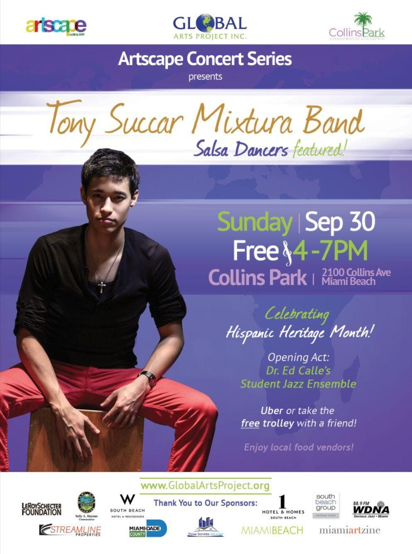 FREE Salsa Concert in Collins Park Sept. 30