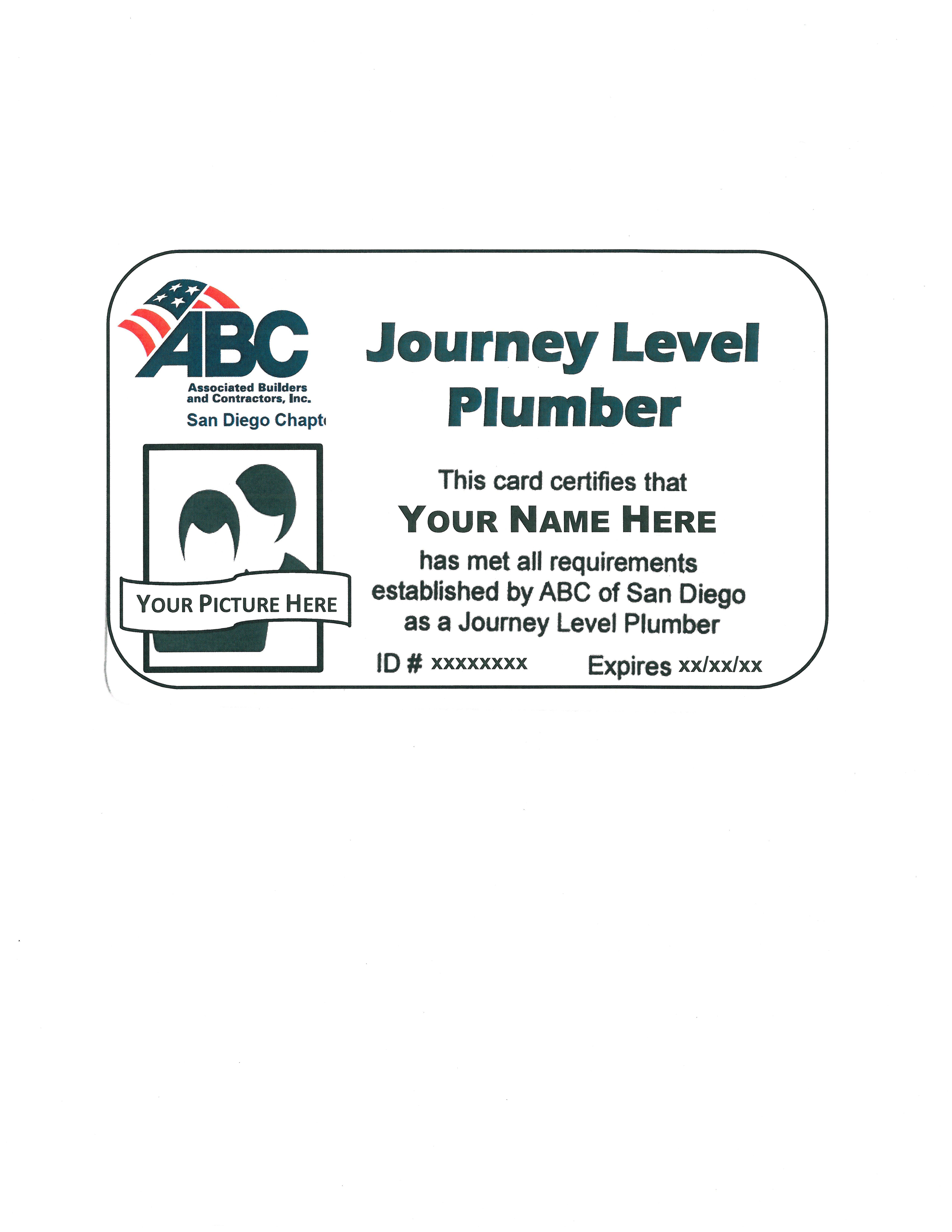 Abc Journey Level Plumbing Certification 48 Hrs 12 Wednesdays At