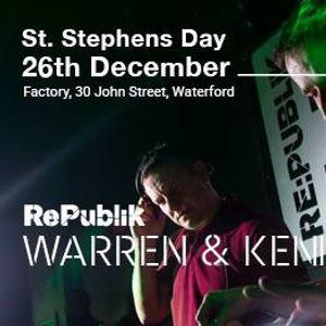 RePublik present Warren &amp Kenno at Factory St. Stephens Day