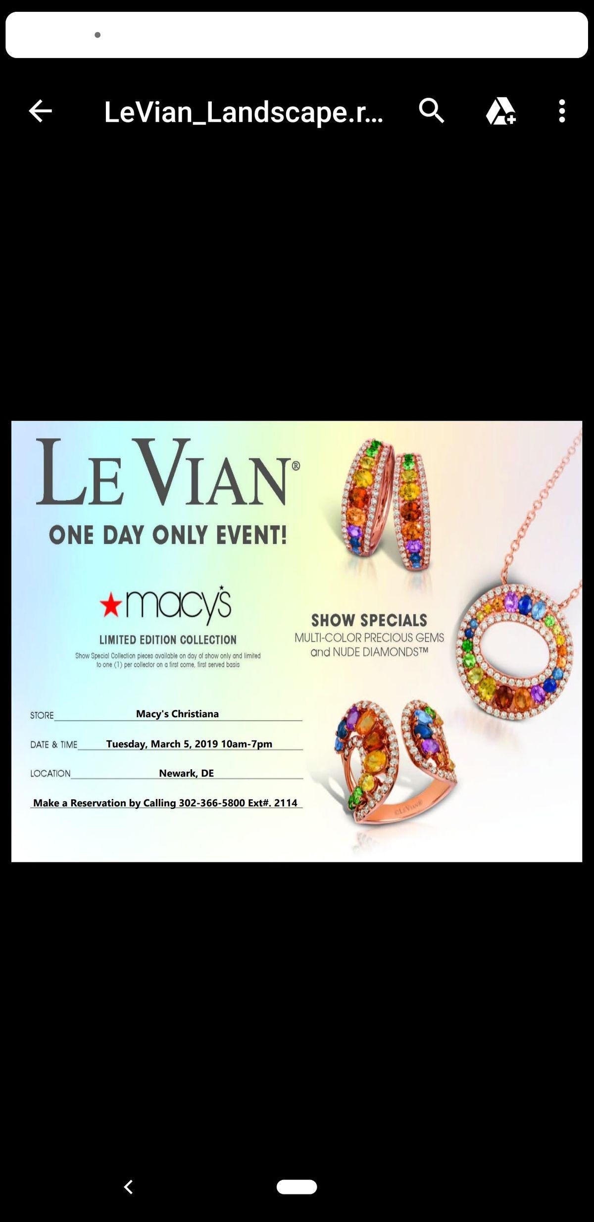 LeVian Jewelry Trunk Show