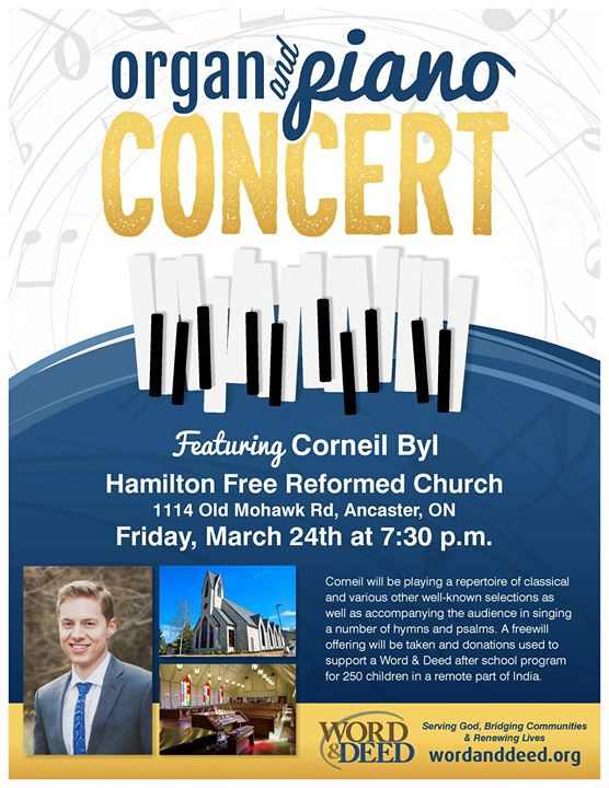 Organ & Piano Concert in Support of Word & Deed