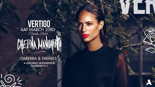 Chelina Manuhutu  Sat March 23rd at Vertigo