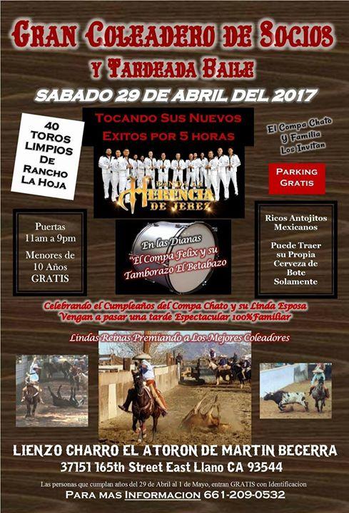Gran Coleadero De Socios Y Tardeada Baile At Lienzo Charro El Atoron