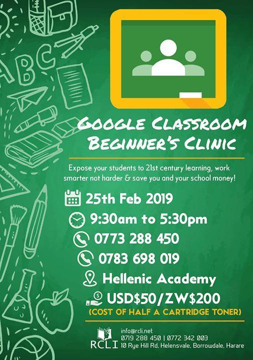 Google Classroom Beginners Clinic