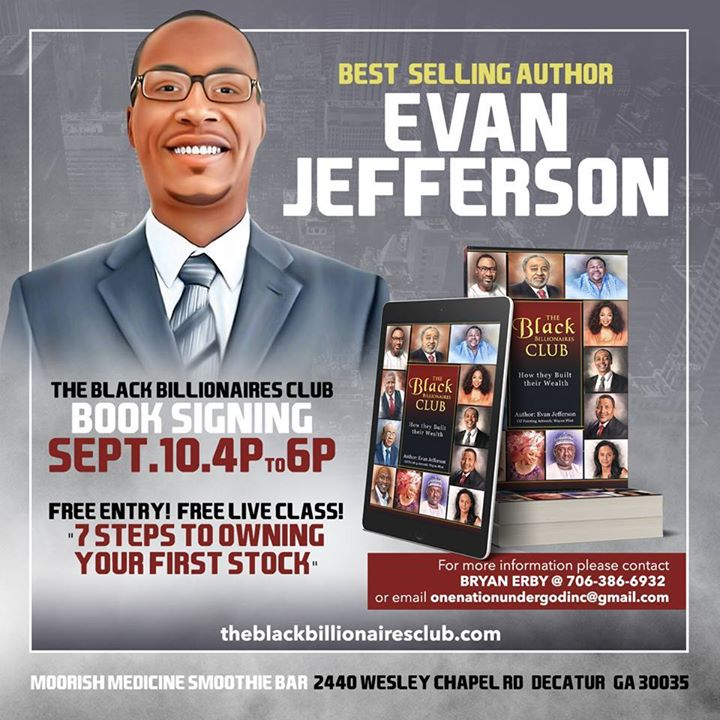 The Black Billionaires Club: Free Stock Class and Book Signing at