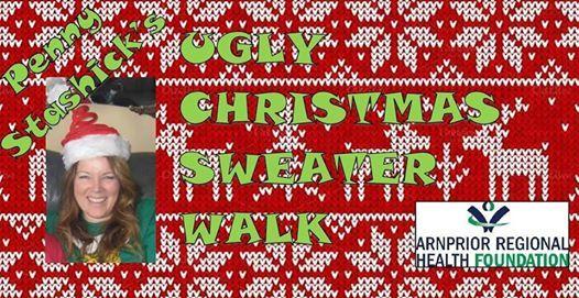 Penny Stashicks Ugly Christmas Sweater Walk