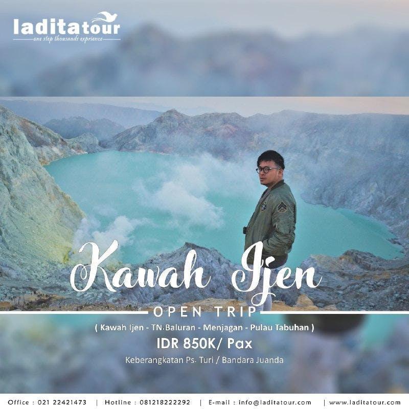 OPEN TRIP Kawah Ijen Baluran Menjangan Tabuhan 24 - 26 Agustus 2018 - Ladita Tour Jakarta