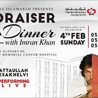 Fundraiser Gala Dinner with Imran Khan in Islamabad