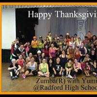 90mins Radford HS Turkey Burn Zumba with Yumi on THANKSGIVING THURSDAY MORNING
