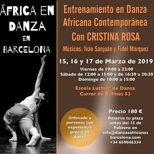 Barcelona con Cristina Rosa Grupo Entrenamiento Danza