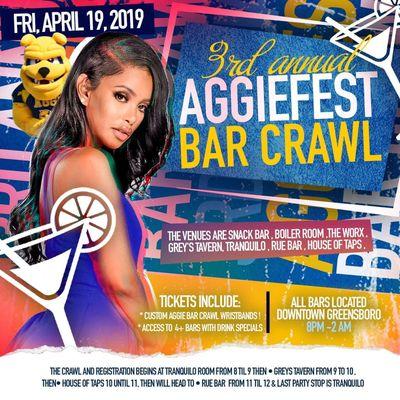 3rd Annual Aggie Fest Bar Crawl
