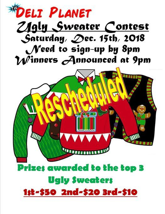 Ugly Sweater Contest-The Deli Planet at The Deli Planet