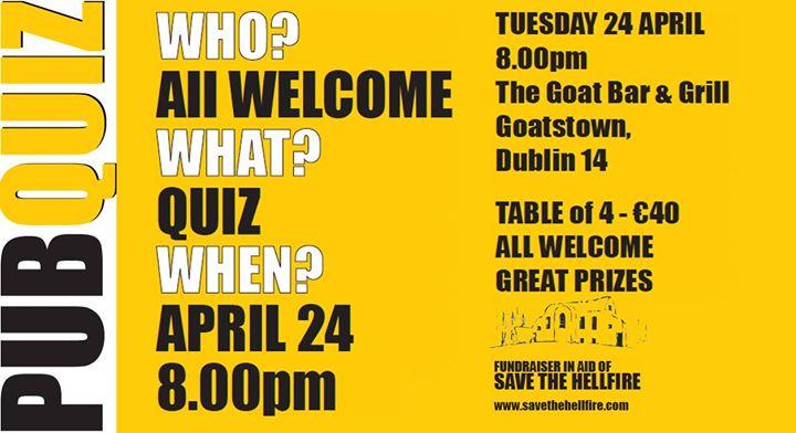 Pub Quiz - Save the Hellfire