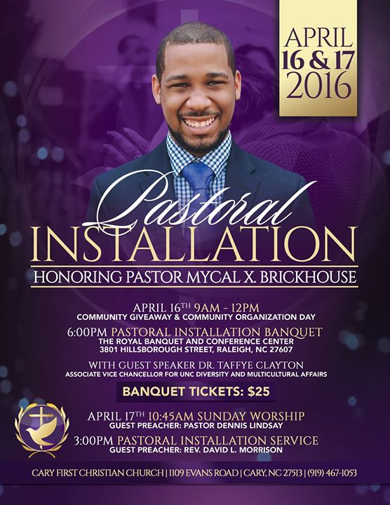 Pastoral Installation for Rev. Mycal Brickhouse at Cary ...