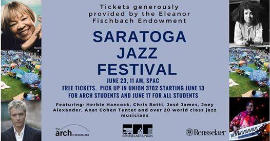 Free Tickets Saratoga Jazz Festival