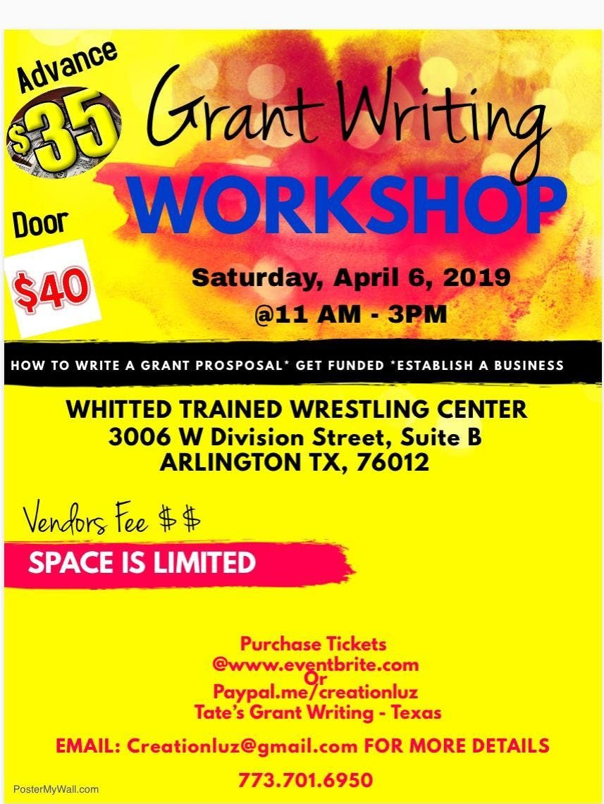 Grant Writing Workshop Arlington Texas
