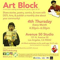 ArtBlock Teen Zine Writing Workshop