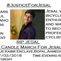 Candle March Ahmedabad JusticeForJesal