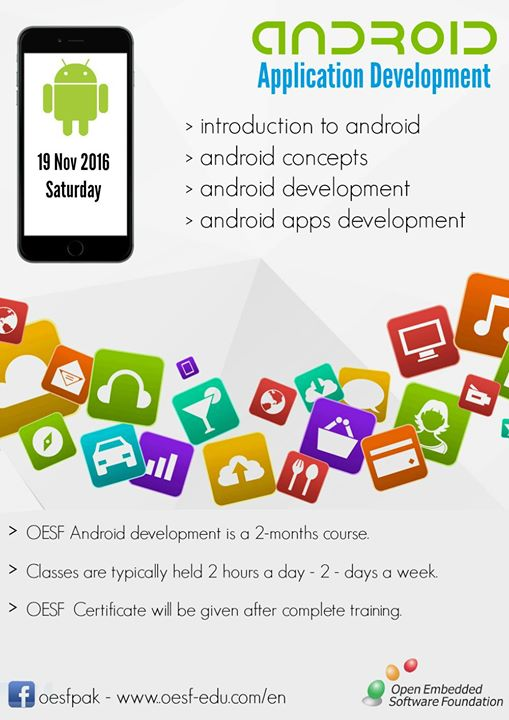 OESF Certified Android development course at R 1671 Block 18