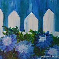 PaintWine &amp Sweets - Hydrangea Fence - Adult Public 35