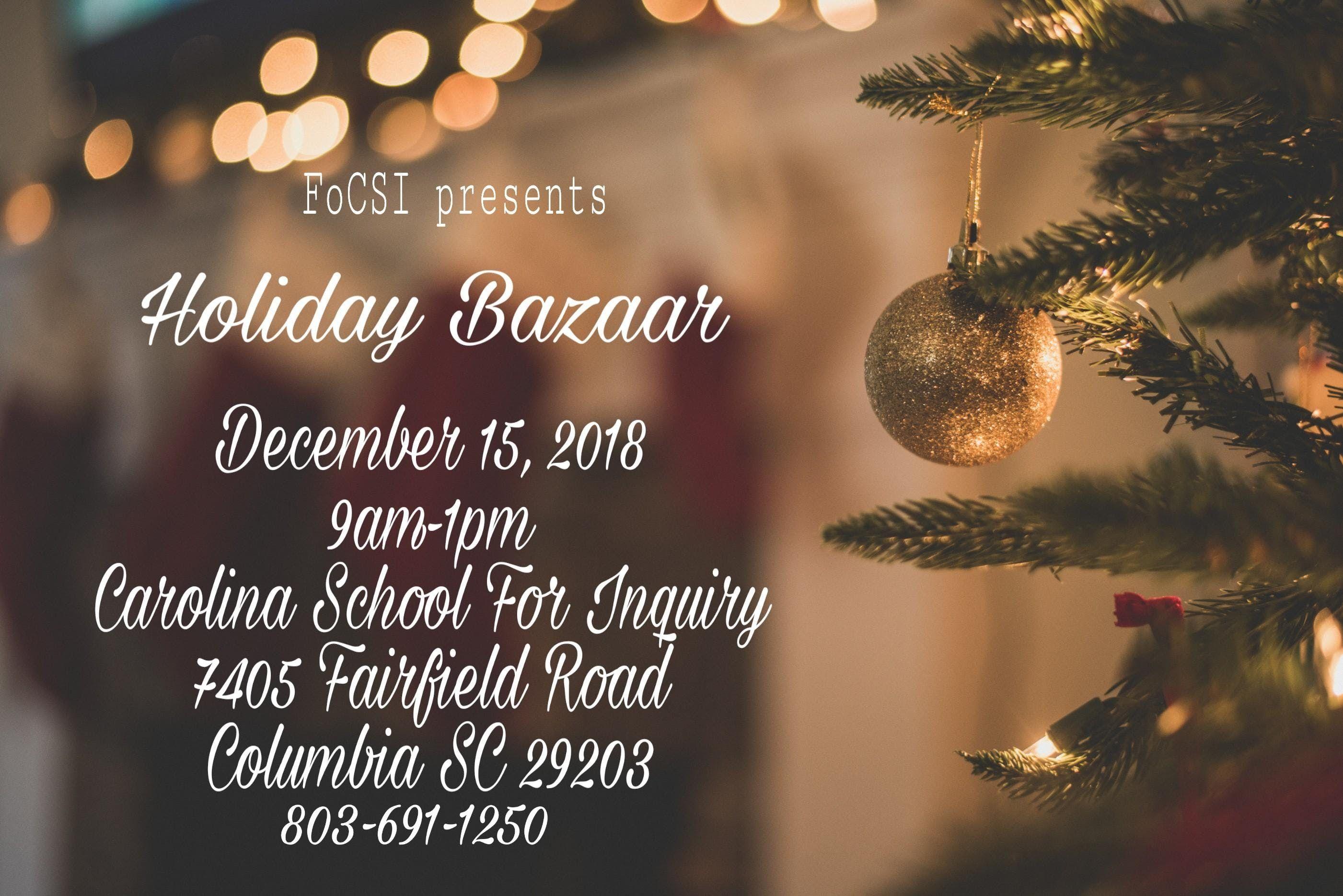 FoCSI Holiday Bazaar