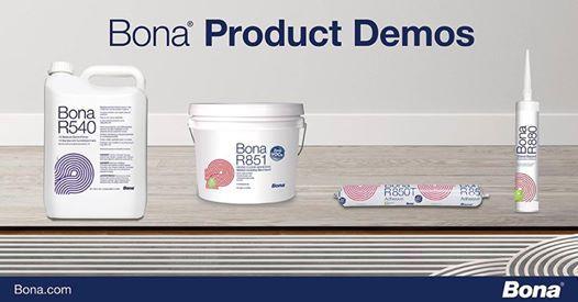 Bona R540 & Bona R851 R850T and R880 Adhesive Demos