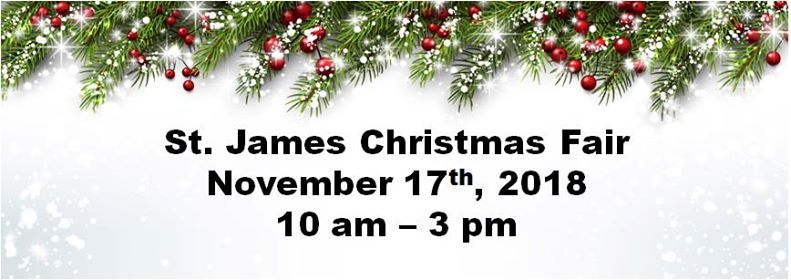 St. James School Christmas Fair 2018