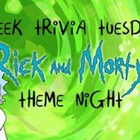 Geek Trivia Tuesday Rick and Morty