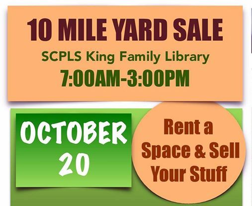 10 Mile Yard Sale at Sevier County Public Library System