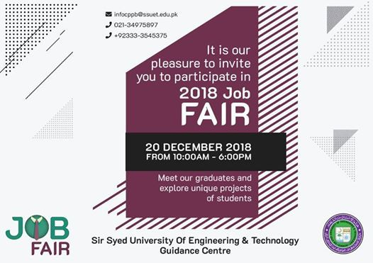 JOB FAIR at SSUET - Sir Syed University of Engineering