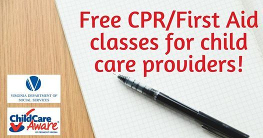free cpr/first aid for child care providers - radford at little ...