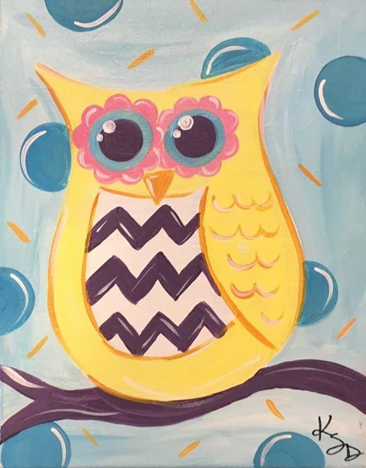 Spirited Art Calendar Huntsville Al : Fall break colorful owl flower pot owls at spirited art