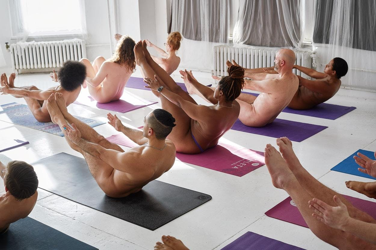 Image result for naked yoga