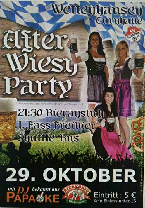 After wiesn party