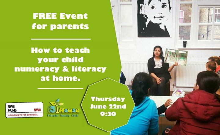 Free Educational talk for parents numeracy & literacy at home.