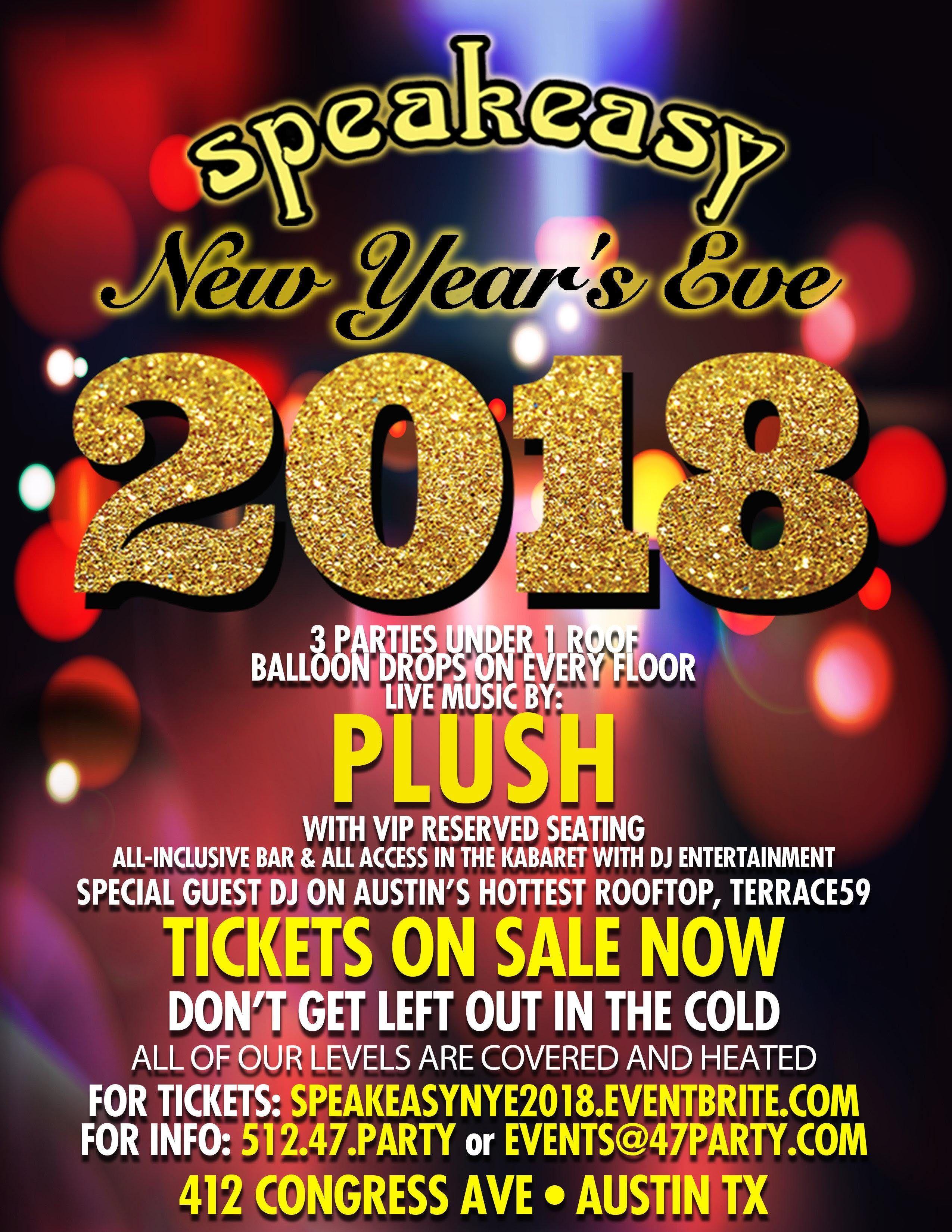Speakeasys Legendary New Years Eve Bash 2018