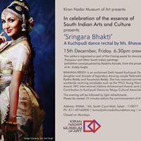 Sringara Bhakti Kuchipudi Dance recital by Bhavana Reddy