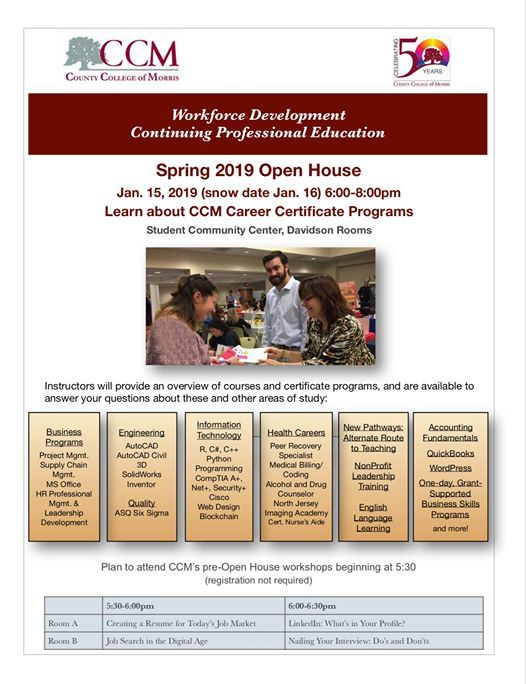 Open House for Continuing Professional Education at