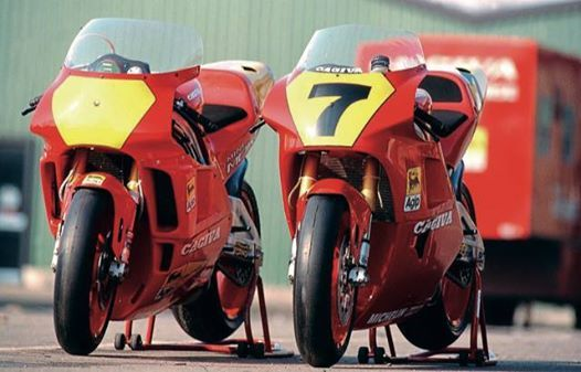 Cagiva Racing Display - 25th Classic Mechanics Motorcycle Show