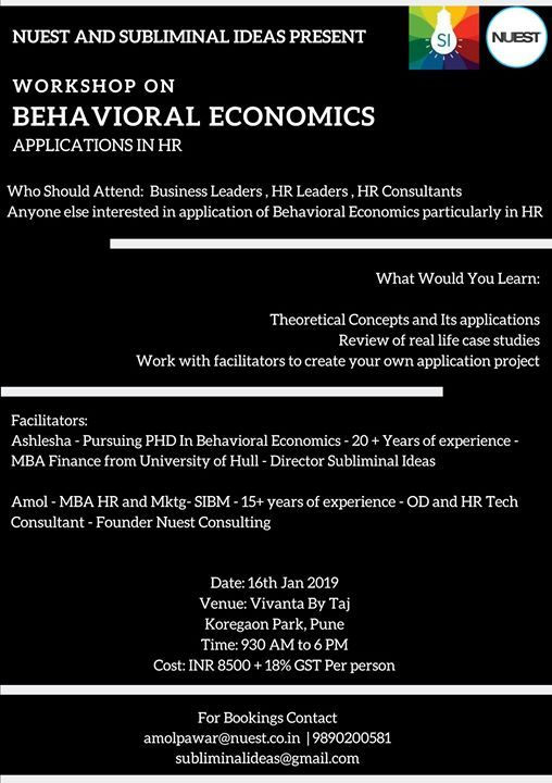 Workshop on Behavioral Economics