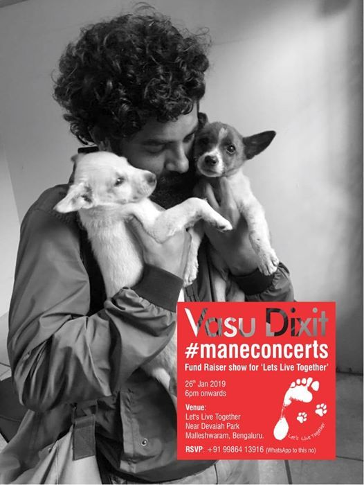 Fundraiser concert by Vasu Dixit for homeless puppies.