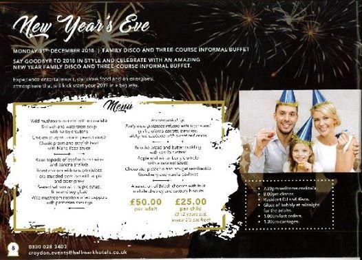 New Years Eve Party (family disco & three course buffet)
