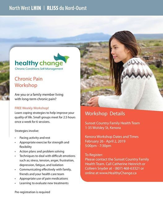 Chronic Pain Workshop at Sunset Country Family Health Team
