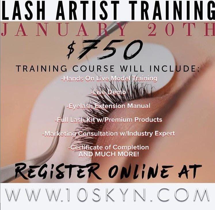 Eyelash Extension Artist Training